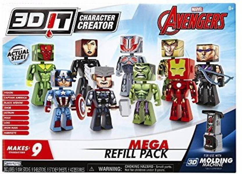 3D Character Creator 3D Character Creator Marvel Avengers Mega