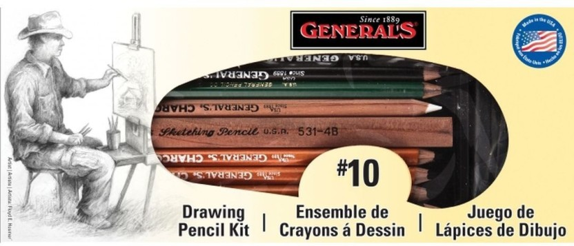 General Pencil Various Classic Sketching And Drawing Kit Drawing Ecog Drawing Lettering Aids