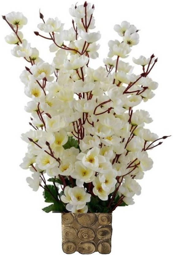 Kaykon Designer Pot 15 Flower Sticks For Home Decoration White