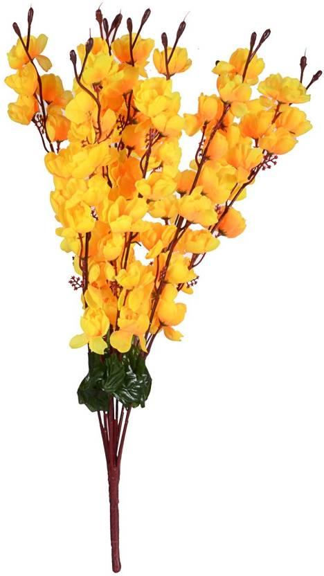 Jaipurcrafts Yellow Magnolia Artificial Flower Price In India Buy