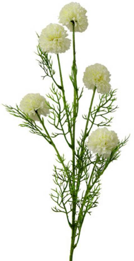 Gifts By Meeta White Marigold Artificial Flower Price In India Buy