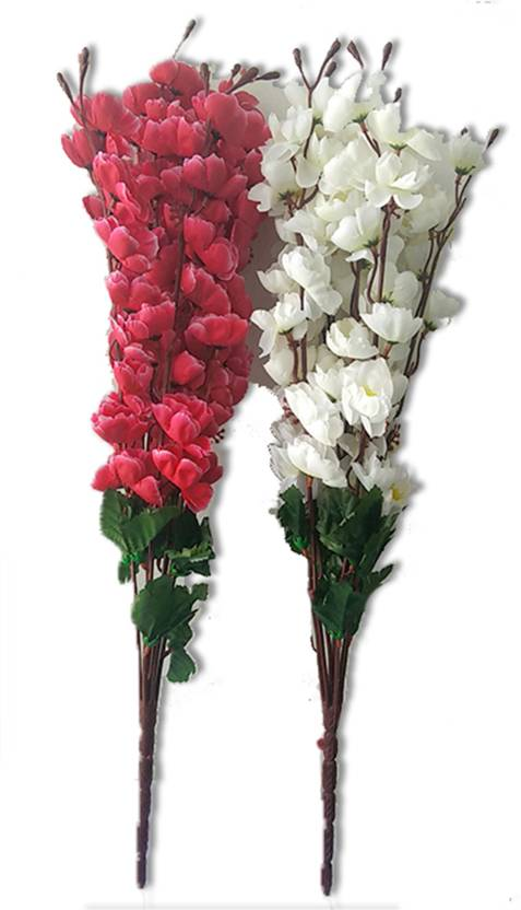 Kaykon red and white flower bunch for home decor 17 inch multicolor kaykon red and white flower bunch for home decor 17 inch multicolor orchids artificial flower mightylinksfo