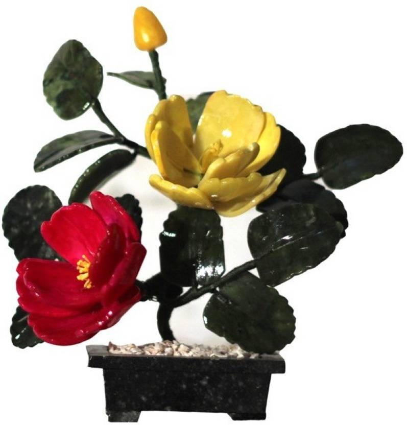 Orchard Red Yellow Hibiscus Artificial Flower With Pot Price In