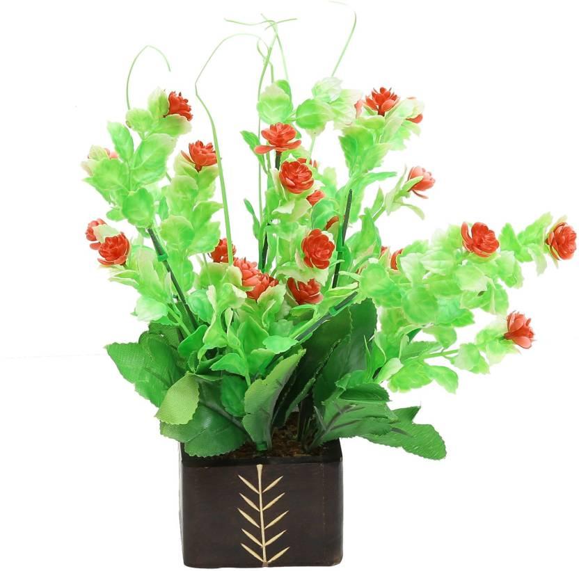 Random Wild Artificial Plant  with Pot 26 cm, Multicolor