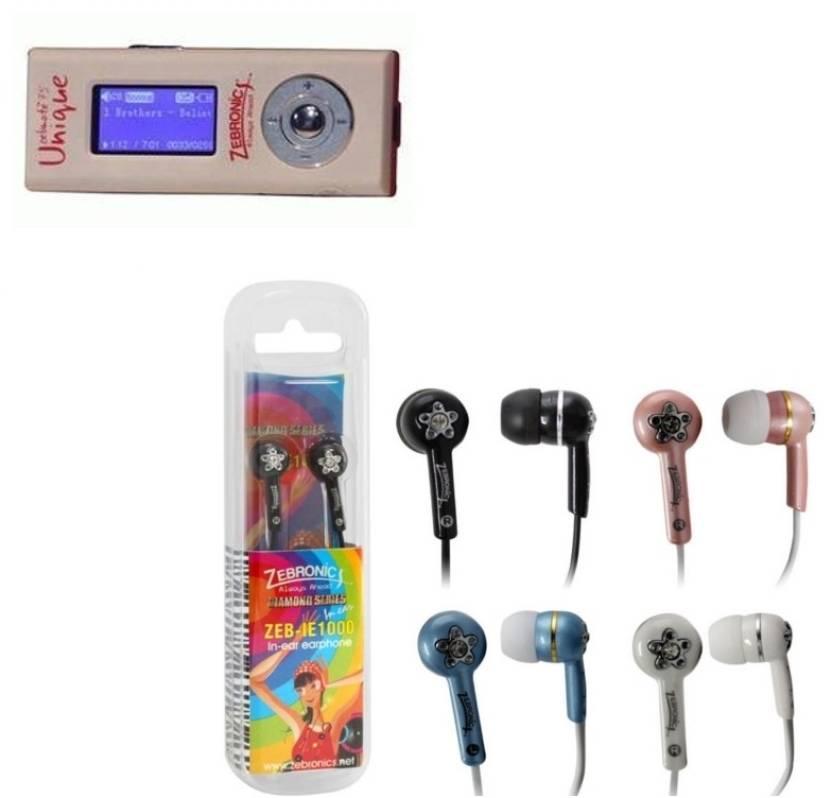 Zebronics Zebmate 75 Unique 4 GB MP3 Player