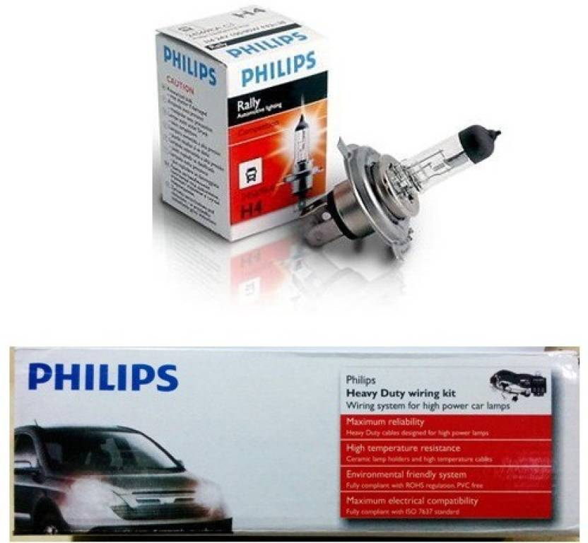 Philips 1 Wiring Kit 1 Pair Philips Lights High Power Lamps Combo
