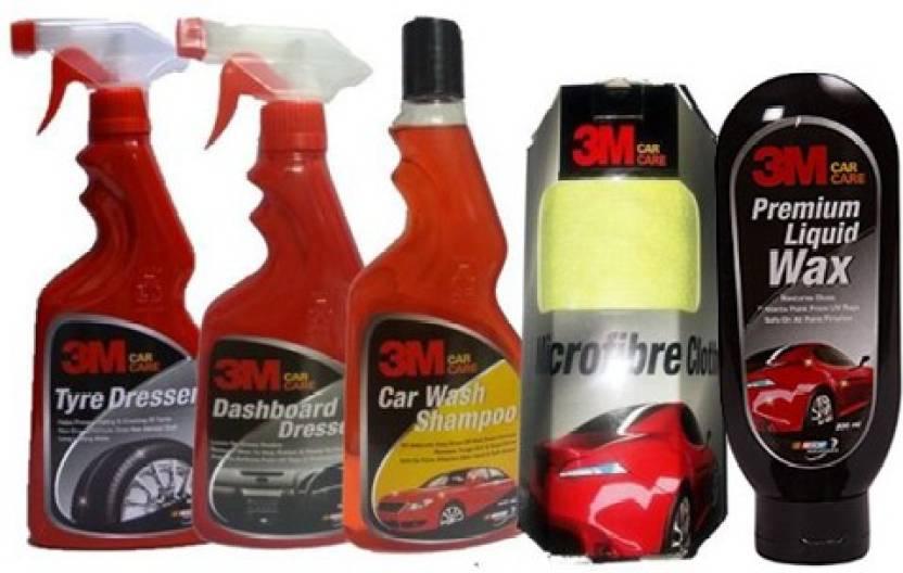3m 1 Car Care Kit Tyre Polish Dashboardpolish Shampoo Liquid