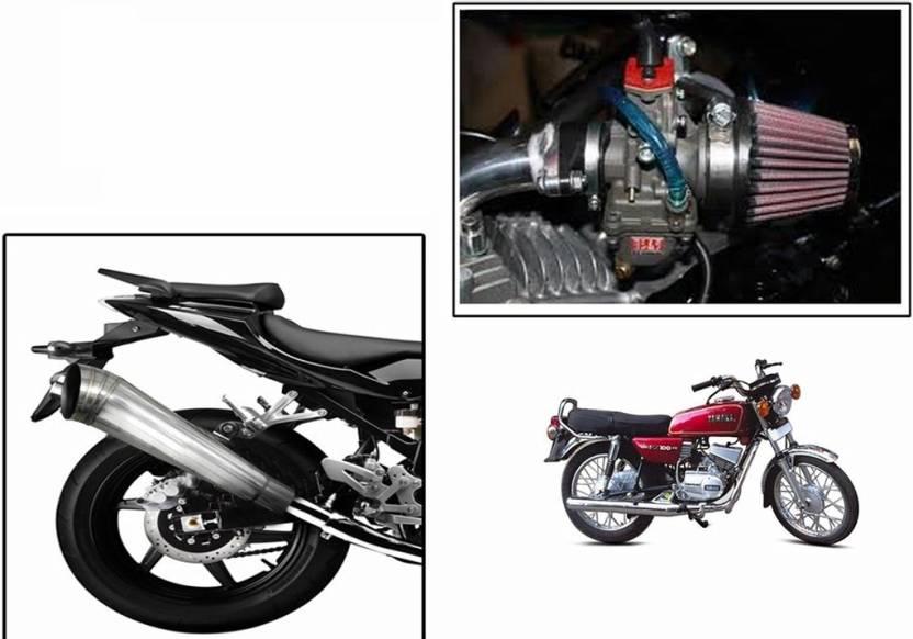 Speedwav 1 Bigul Bike Exhaust, 1 HP Bike Air Filter 42mm