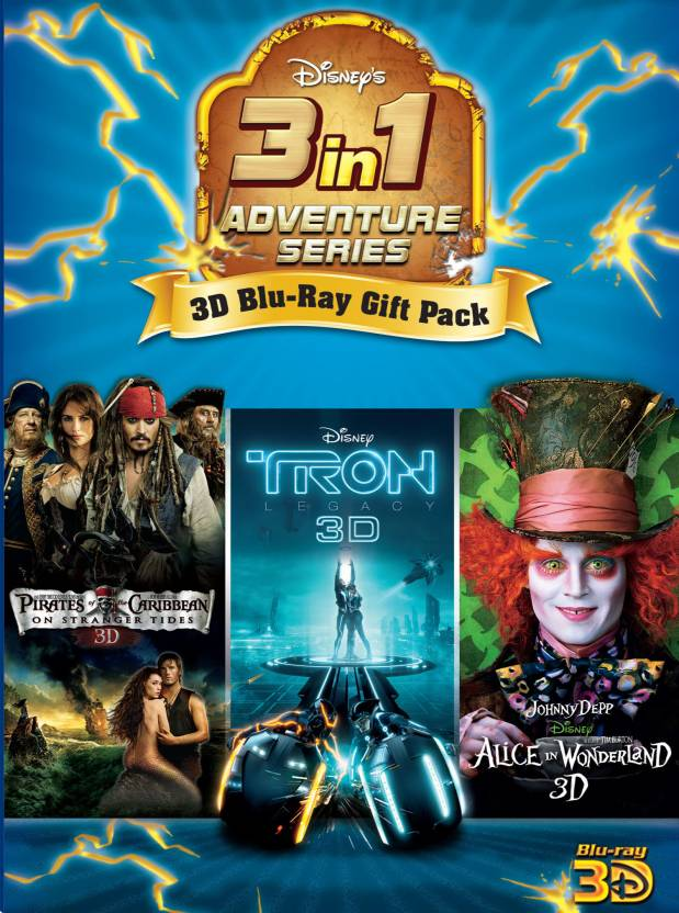 3D Blue-Ray Pack 1 (Tron, Alice, POTC4)