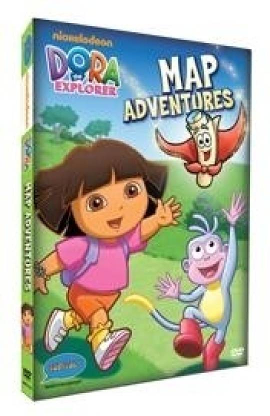 Dora - Map Adventures (Free Jigsaw Puzzle With DVD) Complete Price Doras Map on