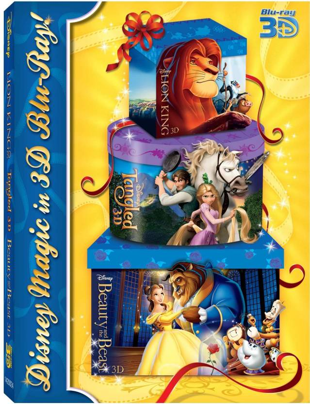 3D Blue-Ray Pack 3 (Tangled/ Lion King/ BATB)