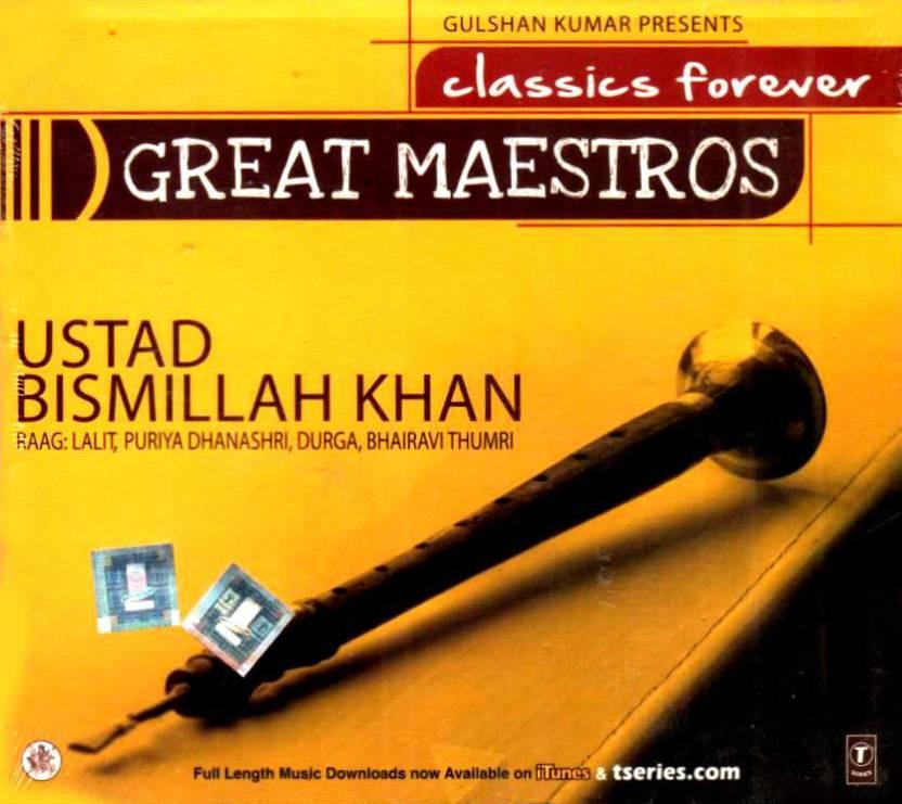 Great Maestros Ustad Bismillah khan Music Audio CD - Price In India