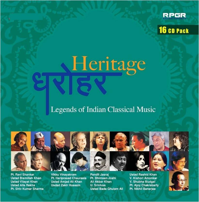Heritage Legends Of Indian Classical Music Music Audio CD