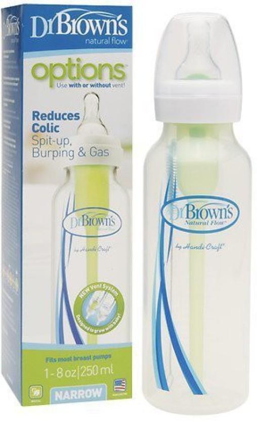3 Bottles Pink Dr Brown/'s Natural Flow Options 8 oz Baby Bottles