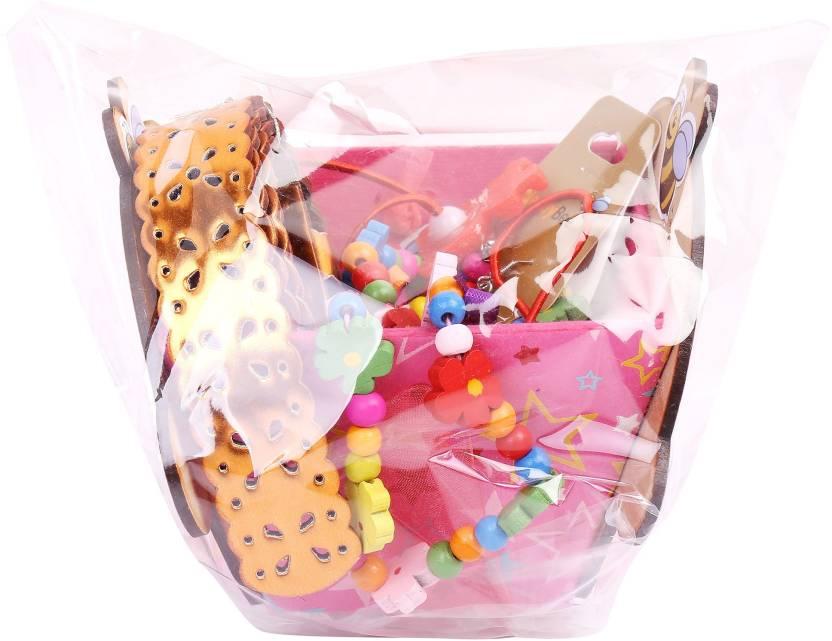 NeedyBee Birthday Return Gift Baby Girls 4 Pcs Hamper Set Multicolor