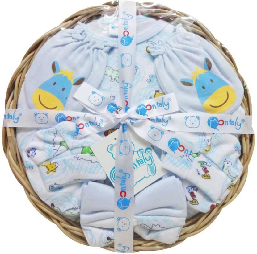 Baby Gift Set Flipkart : Montaly piece donkey print baby gift set buy