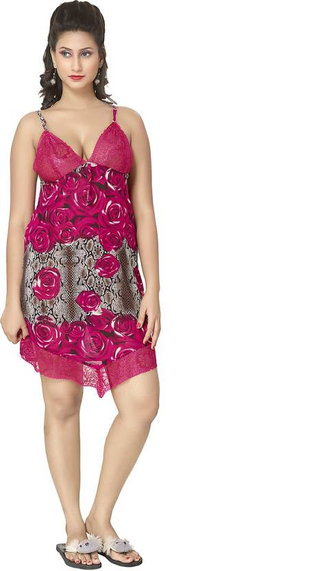 KuuKee Self Design Babydoll - Buy Rani KuuKee Self Design Babydoll Online  at Best Prices in India  23999a13d0bad