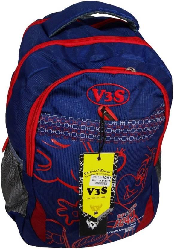 b7d01fecc0a7 V3S School Bag 25 L Backpack BLUE - Price in India