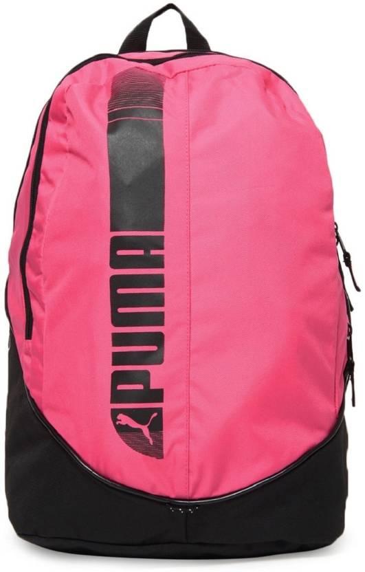 22c6c9a7af6 Puma Pioneer Large Backpack Pink, Black - Price in India | Flipkart.com