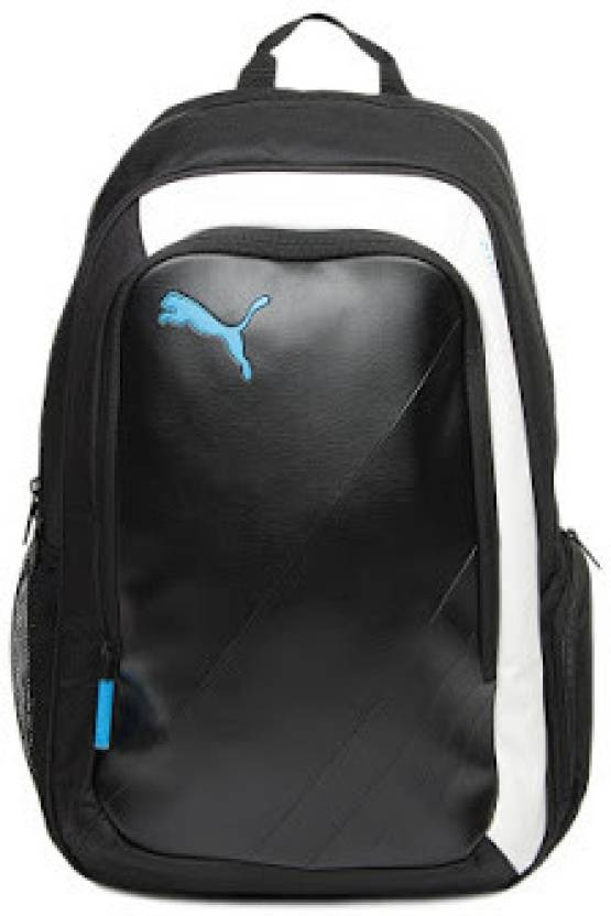 9e45ff97f704 Puma King 5 L Medium Backpack Black   White - Price in India ...
