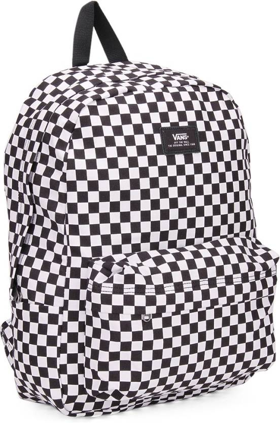 Vans OLD SKOOL II Backpack Black White Check - Price in India ... 50668a715