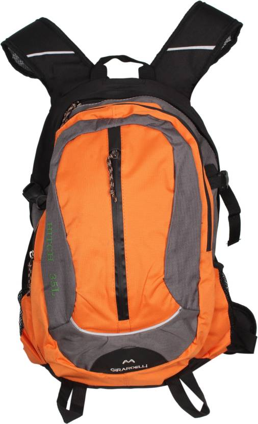 bc6731a0d0b5 Girardelli With Metal Frame and Net Mesh Backpadding 35 L Backpack (Orange)