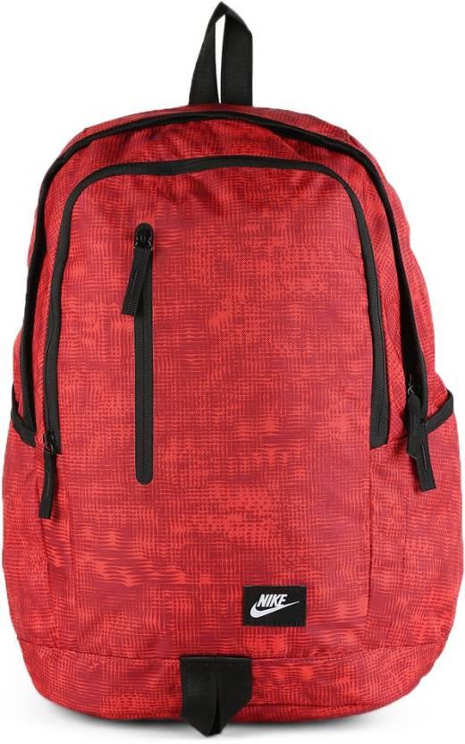 18e74c76161623 Nike Backpack UNIVERSITY RED/BLACK/WHITE - Price in India   Flipkart.com