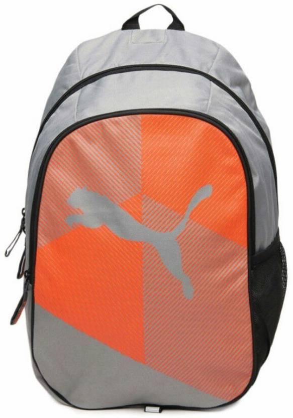ab99a63381 Puma Echo Plus Grey Orange Graphic 25 L Backpack Grey - Price in ...