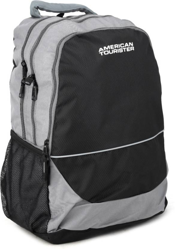 American Tourister Code 15 Backpack Grey and Black - Price in India ... 03e726016a