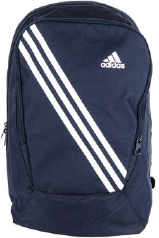 ADIDAS 3 Stripes Inspired Medium Backpack Navy Blue - Price in India ... f7ef78a0d24bc