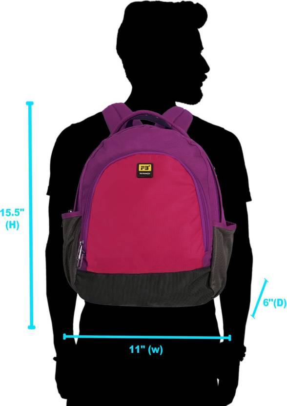 5cdadd3da4b2 FB Fashion SB-526 17 L Small Backpack Pink - Price in India ...