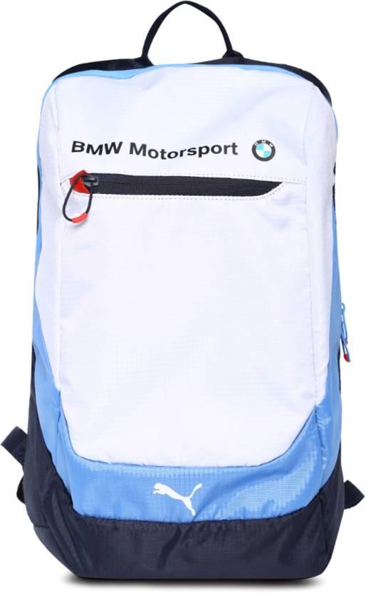 Puma Puma BMW Motorsport 27 L Laptop Backpack (white-bmw team blue-marina  blue) 27 L Laptop Backpack (White) deb1bb23c0485