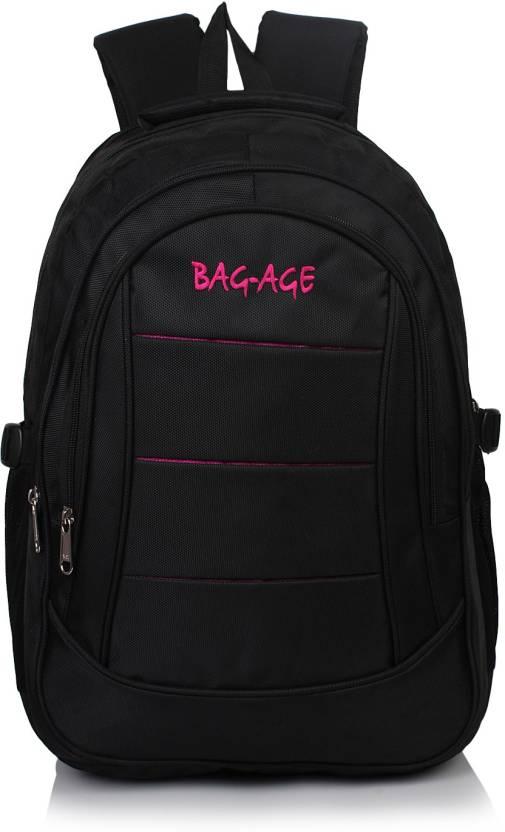 Bag-Age MIG-21 20 L Medium Backpack Black - Price in India