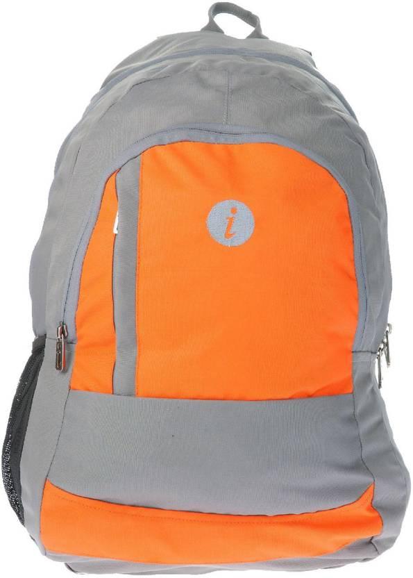 84f9a57f05fe i Plain Spacious 30 L Medium Backpack Orange - Price in India ...