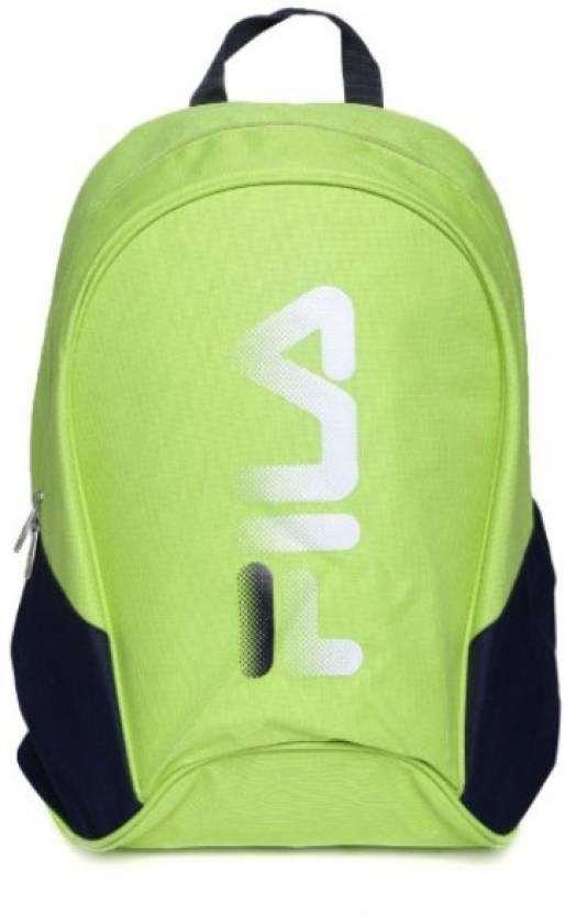 cb3c6b1a98f Fila Bradley laptop 20 L Backpack LimeGreen - Price in India ...