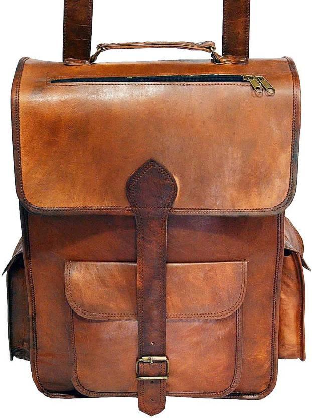 680c937682 Hide1858 Digital Rajasthan Genuine Leather 101.6 L Backpack Dark tan ...