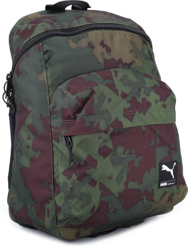 Puma Foundation Backpack Dark Olive and Camo - Price in India ... 9d25963784f86