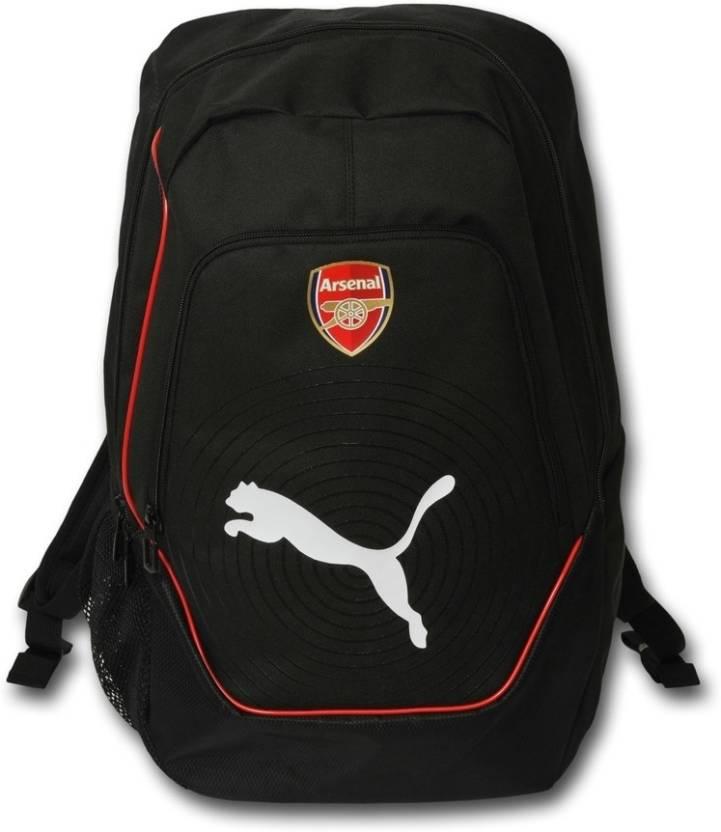 796e4d49bb87 Puma Arsenal Unisex Black Medium Backpack Black - Price in India ...