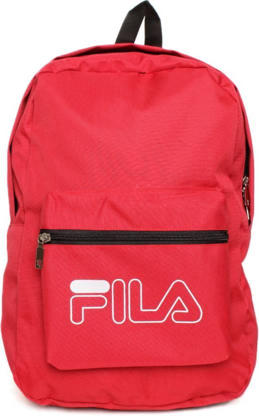 3a1e3d49cd11 Fila Mercury Waterproof School Bag (Red