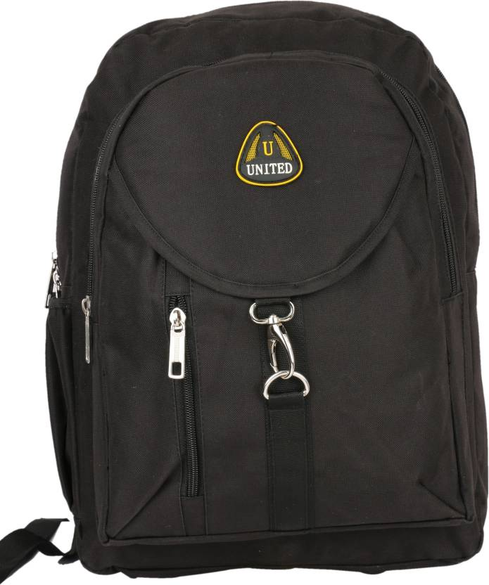 0070d759113b United Bags Buckle Front All Blck 35 L Medium Backpack Black - Price ...