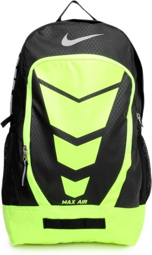 833facd71a0 Nike Max Air Vapor Bp Large 20 L Backpack BK VOLT (METALLIC SILVER ...