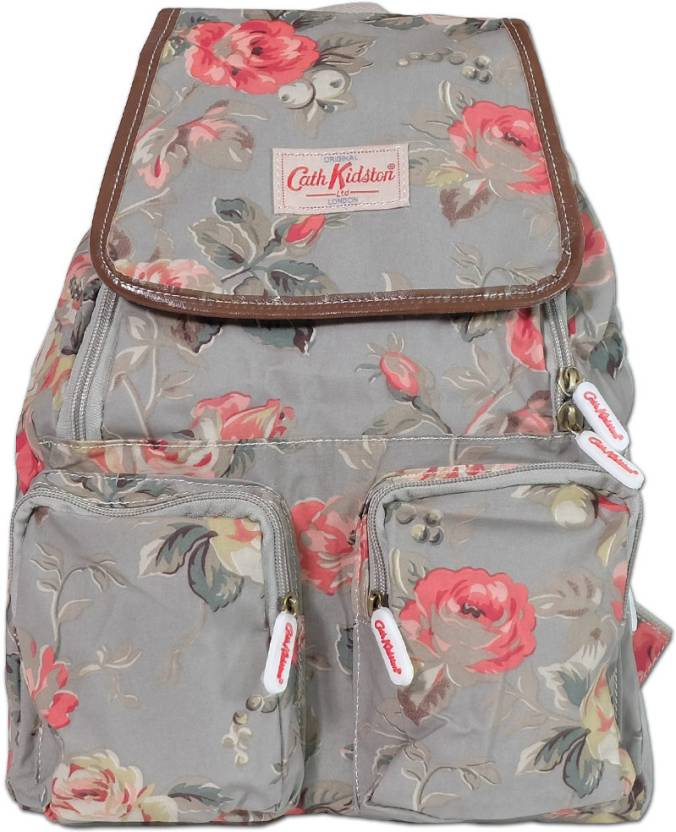 2c372a63b3 Cath Kidston Vintage Floral Print Small Backpack Grey - Price in ...