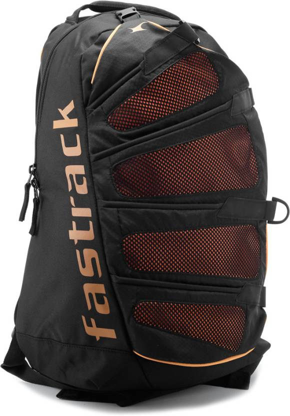 Fastrack 30 L Large Laptop Backpack Black - Price in India ... 368c10d97eef1