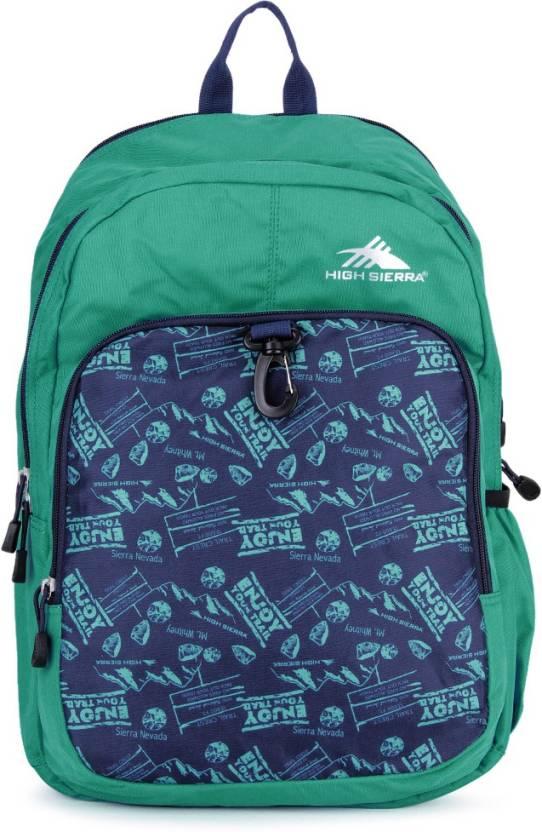 Upto 64% Off On Backpacks By Flipkart | High Sierra Bonobo Backpack  (Aqua) @ Rs.648