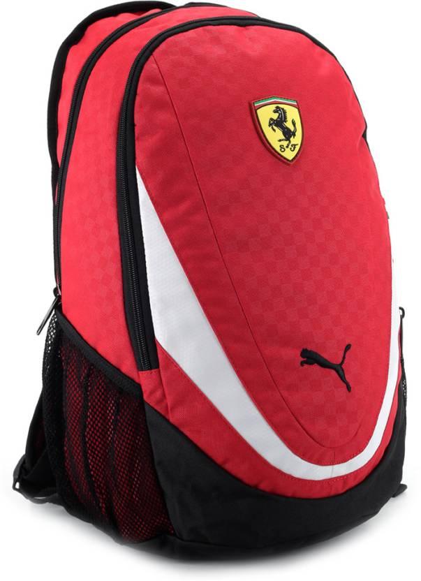 a88934f316af Puma Ferrari Replica Backpack Rosso Corsa, White and Black - Price ...