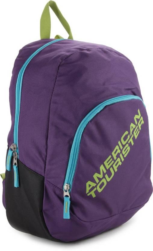 Upto 50% Off On Backpacks By Flipkart | American Tourister Jasper Backpack  (Purple) @ Rs.625