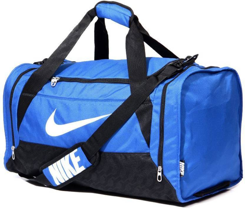 be8a8c7b462 Nike NIKE BRASILIA 6 MEDIUM DUFFEL Royal Black White - Price in India    Flipkart.com