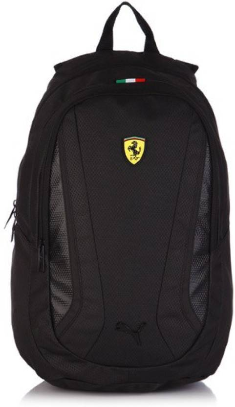 Puma Ferrari Replica 25 L Large Backpack Black - Price in India ... 18ca144485804
