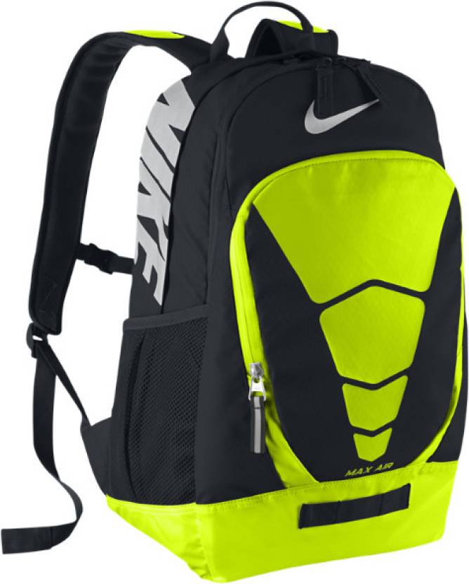 sale retailer 2e0d8 328b3 Nike Vapor Max Air Unisex Large Backpack (Black, Green)