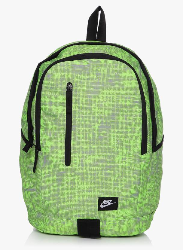bf993eb6adb Nike All Access Soleday Printed 25 L Backpack Green - Price in India ...